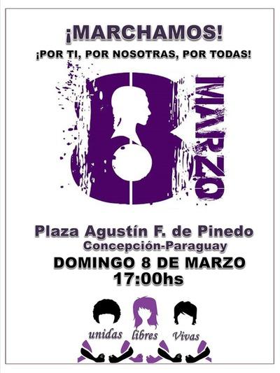Mujeres marcharán el #8M en Concepción