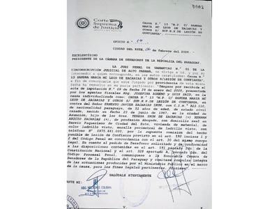 Llamativo pedido de desafuero de ZI en una misma causa