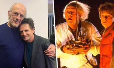 """El reencuentro de Doc y Marty de """"Back To The Future"""""""
