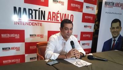 Martín Arévalo en carrera por la Intendencia de Asunción