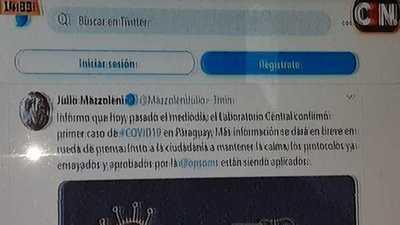 Confirman primer caso de Corona Virus en Paraguay