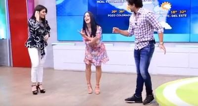 Fabi Martínez se puso a dar clases de 'samba'