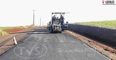 Gran avance del asfaltado entre Itapúa y Caazapá