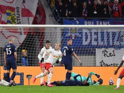 Leipzig golea al Tottenham y certifica pase a cuartos de final de la Champions