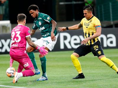 Palmeiras baja a Guaraní en un duelo marcado por la polémica