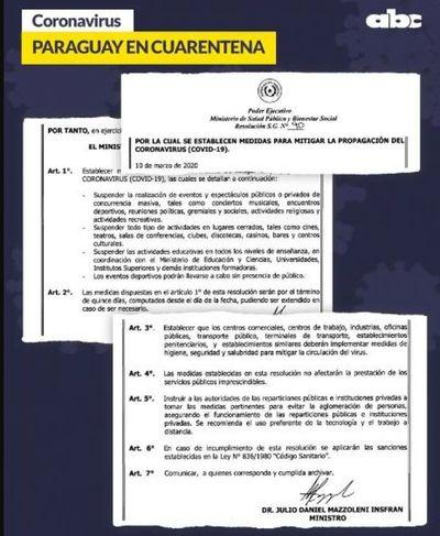 Resolución clarifica qué está restringido y permitido durante estos 15 días