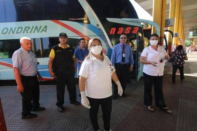 Asunción: Se establece control con termómetro infrarrojo en Terminal de Ómnibus