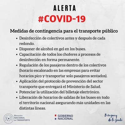 Transportistas adoptan medidas de contingencia para mitigar avance del coronavirus
