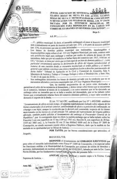 Concepción: Justicia levanta embargo sobre tierras ocupadas por varias familias