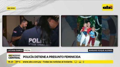 Policía detiene a presunto feminicida