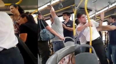A golpes en bus: Sumarian a empresa y se exponen a multa de G. 14 millones por no respetar medidas sanitarias
