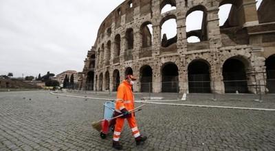 Viernes negro en Italia por coronavirus: 250 muertos en un día