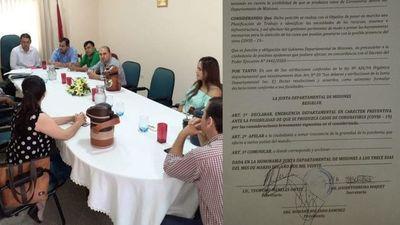 """Misiones; Junta Departamental declara """"emergencia departamental"""" ante posible propagación del COVID-19"""