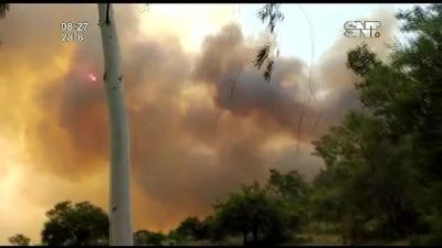 Se registró un voraz incendio en Ñeembucú
