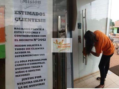 Santa Rosa; Supermercado Misión pide no llevar a niños a la hora de comprar