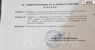 Patrulla Caminera establece consideración temporal para aplicar sanciones en las rutas
