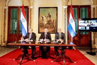 Presidentes coordinan el libre tránsito y medidas anticovid-19