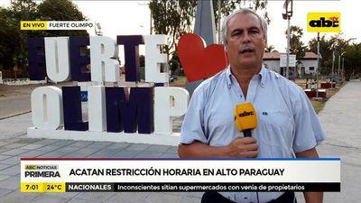 Acatan restricción horaria en Alto Paraguay