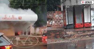 En San Pedro del Paraná, incendio dejó con grandes pérdidas materiales a un local gastronómico