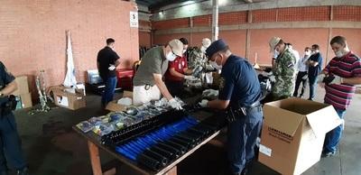Incautan piezas de armas de guerra en el aeropuerto Guaraní