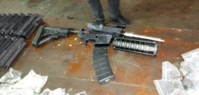 Cargamento de piezas de armas incautadas totaliza unos 130 fusiles semiautomáticos