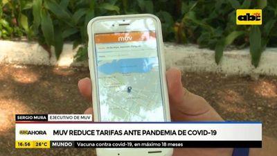 MUV reduce tarifa ante pandemia de covid-19