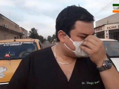 Doctor llora y pide conciencia a la gente ante el coronavirus