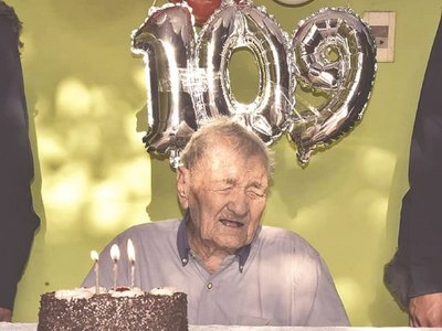 Cumplió 109 años y lo cuidan del coronavirus