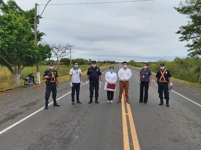 Capacitan a personal Policial en puesto de control en Ñeembucú.