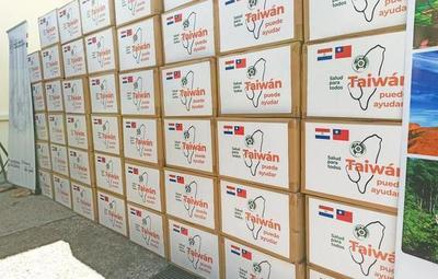 Salud recibe donación de insumos por parte de China Taiwán