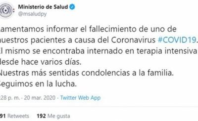 Doctor es primera víctima fatal de Coronavirus en el país