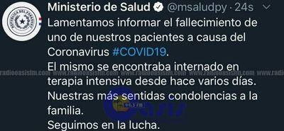 Ministerio de Salud confirma primer fallecido por coronavirus en Paraguay