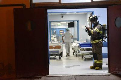 Derrame de químico en el Hospital Central de IPS