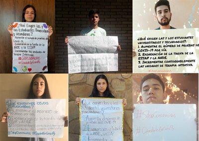 COVID-19: Estudiantes se unen para pedir exoneración de agua y luz