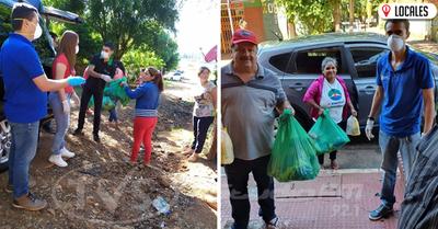 Rotary Club Encarnación entregó kits de víveres y elementos de limpieza a 200 familias