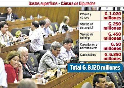 Diputados también buscan recortar gastos superfluos
