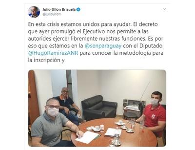 """Políticos colorados se reunieron con autoridades de SEN por kits: """"No fueron invitados"""""""