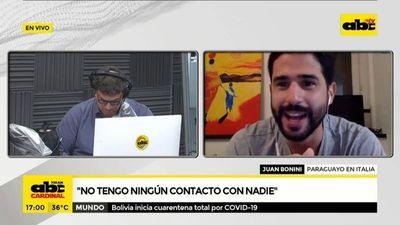 Covid-19: Paraguayo en Italia