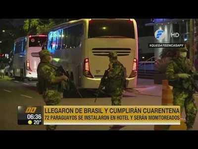 72 paraguayos llegaron de Brasil y fueron llevados directo a cuarentena