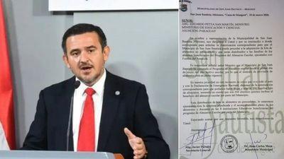 Juan Carlos Meza pide autorización a Petta para compra de kits de víveres
