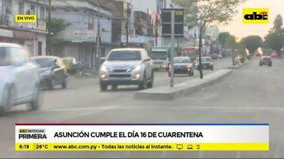 Asunción cumple el día 16 de cuarentena