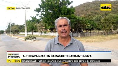 Alto Paraguay sin camas de terapia intensiva