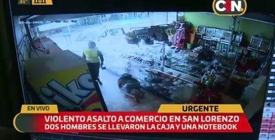 Violento asalto a despensa en San Lorenzo
