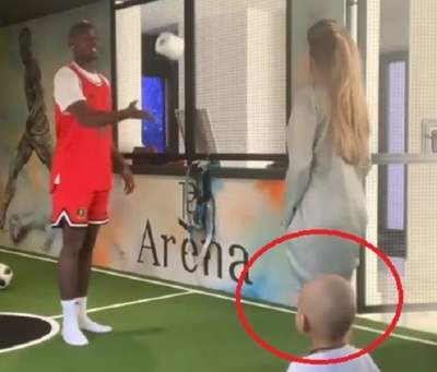 """VIDEO: Hijo de Pogba sufre """"accidente"""" en pleno challenge"""