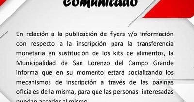 """Municipalidad sale a desmentir una """"fake news"""" que habilitaba números de WhatsApp para la transferencia monetaria"""