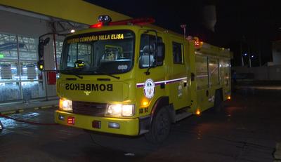 Bomberos realizaron tareas de desinfección en Villa Elisa