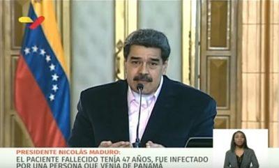 """Maduro dice que paciente de Covid-19 murió porque """"cometió un error"""""""