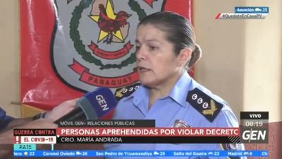 Cuarentena: Denuncian a agente policial por abuso durante control