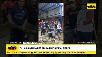 Realizan ollas populares en barrios de Alberdi