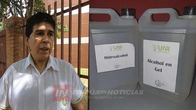 CYT-UNI OBSEQUIÓ ALCOHOL LÍQUIDO Y EN GEL A PERIODISTAS DE ITAPÚA